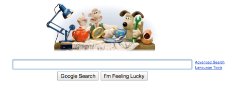 Google logo on Wallace and Gromit