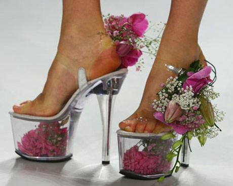 flowery platform-shoes