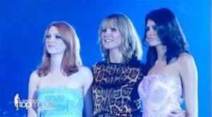 Hannah, Heidi Klum and Alisar waiting for the big moment