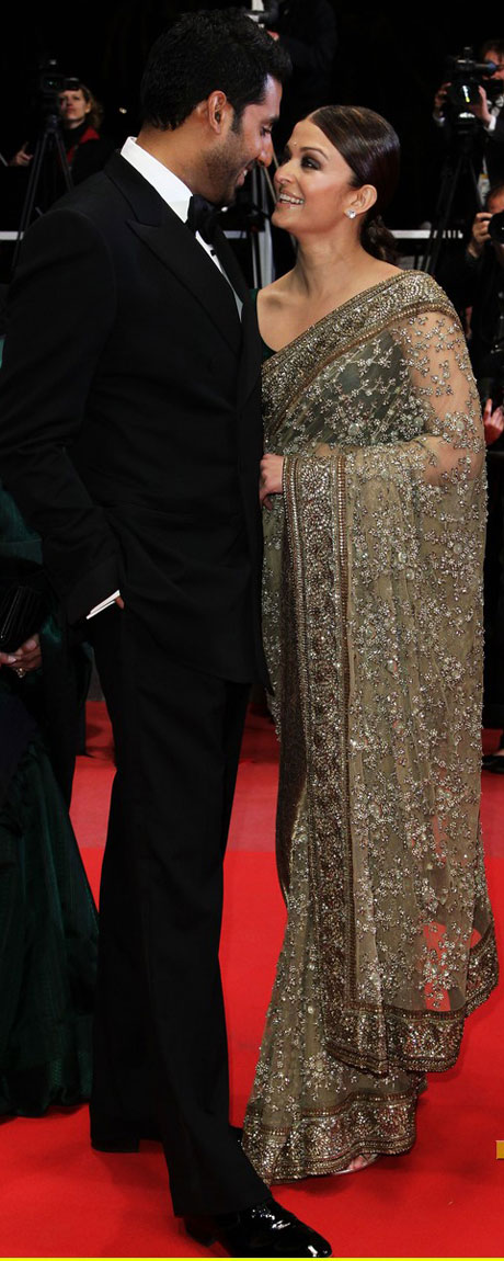 In 2010 in Sabyasachi Mukherjee. Saved her. Alongside are Mani Rathnam & Suhasini not in pic.