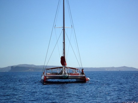 The catamaran we made our 5 hr trip on.